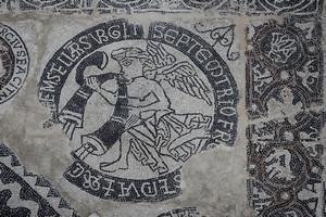 Mosaico di San Salvatore. Fotografia di Paolo Gonella, 2010. © Soprintendenza per i Beni Archeologici del Piemonte e del Museo Antichità Egizie.