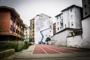 """Habitat"" i muri dipinti da Millo in Barriera di Milano"