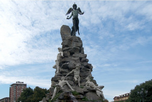 Il monumento al traforo del Frejus (dettaglio). Fotografia di Fabrizia Di Rovasenda, 2010. © MuseoTorino.