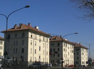 Veduta di alcuni dei caseggiati del villaggio operaio della Snia-Viscosa al fondo di corso Vercelli. Fotografia di Maria D'Amuri, 2012. © MuseoTorino