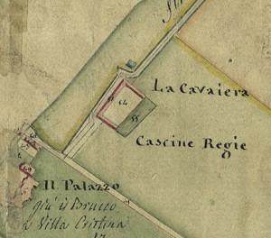 Cascina Cavaliera. Catasto Gatti, 1820-1830. © Archivio Storico della Città di Torino