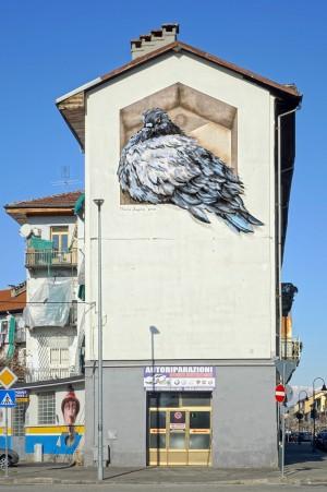 Mauro Fassino, murale senza titolo, 2010, casa Hänhel. Fotografia di Roberto Cortese, 2019 © Archivio Storico della Città di Torino