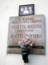 Lapide dedicata ad Augusto e Clementina Sussetto
