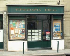 Ideal, tipografia