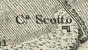 Cascina Grangia Scott. Francesco De Caroly, Carta topografica dimostrativa, 1785, ©Archivio di Stato di Torino