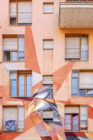 Vesod, dettaglio del murale sul Buena Vista Residence, 2012. Fotografia di Roberto Cortese, 2017 © Archivio Storico della Città di Torino