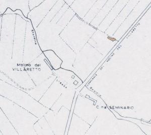 Cascinotto di strada del Mulino di Villaretto. Istituto Geografico Militare, Pianta di Torino, 1974, © Archivio Storico della Città di Torino