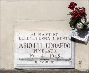 Lapide dedicata a Edoardo Ariotti (1924 - 1945)