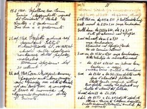 Diario dell'Istituto Lorenzo Prinotti, 1940. ASCT, Fondo Prinotti cart. 31 fasc. 11, 9, pp. 87-88. © Archivio Storico della Città di Torino