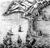 Il lazzaretto di Ancona: particolare da una stampa del 1663, in Theatrum civitatum et admirandorum Italiae di Joanne Blaeu.