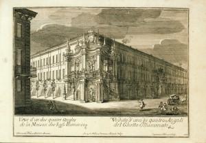 Veduta di uno dei quattro angoli del Ghetto illuminato, 1737. © Archivio Storico della Città di Torino