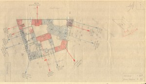 Bombardamenti aerei. Censimento edifici danneggiati o distrutti. ASCT Fondo danni di guerra inv. 967 cart. 19 fasc. 4. © Archivio Storico della Città di Torino