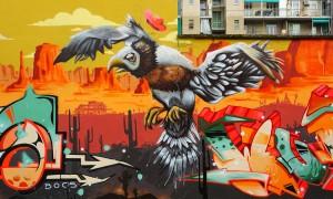 BOCS, murales senza titolo, 2018, giardini Firpo, corso Dante. Fotografia di Roberto Cortese, 2018 © Archivio Storico della Città di Torino