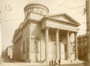 Chiesa di San Massimo. Fotografia di Mario Gabinio, 29 settembre 1924. Fondazione Torino Musei, Archivio fotografico, Fondo Gabinio. © Fondazione Torino Musei