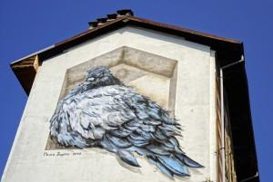 Mauro Fassino, murale senza titolo, 2010, casa Hänhel, via Giachino. Fotografia di Roberto Cortese, 2017 © Archivio Storico della Città di Torino