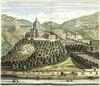 Veduta del Monte dei Cappuccini dal Theatrum Sabaudiae, I, tavola 30. © Archivio Storico della Città di Torino