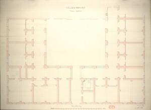 Collegio Monviso. Pianta inferiore, 1865