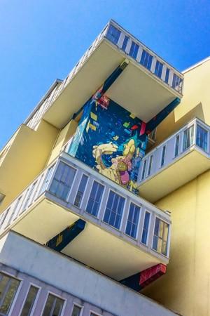 Etnik, SatOne, Zedz, particolare murale senza titolo, 2010, corso Taranto. Fotografia di Roberto Cortese, 2017 © Archivio Storico della Città di Torino