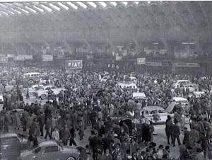 Salone dell'Automobile del 1956 a Torino Esposizioni, Salone B. © Archivio Storico Fiat