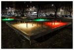 "Luci d'Artista Jeppe Hein ""Illuminated Benches"""