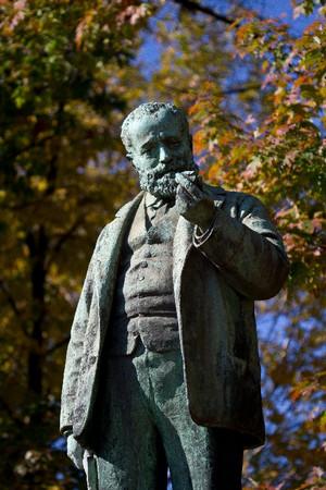 Cesare Reduzzi, Monumento a Quintino Sella (dettaglio della statua), 1893. Fotografia di Mattia Boero, 2010. © MuseoTorino.