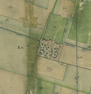 Cascina Piscina, già Marchesa. Catasto Gatti, 1820-1830. © Archivio Storico della Città di Torino