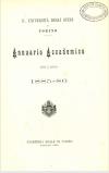 «Annuario accademico», A. X, a.a. 1885-1886, Torino, copertina