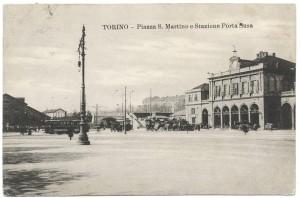 Piazza San Martino e stazione di Porta Susa. © Archivio Storico della Città di Torino