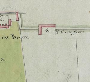 Cascina Cavaliera. Mappa primitiva Napoleonica, 1805. © Archivio Storico della Città di Torino