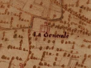Cascina Generala. Carta della Montagna, 1694-1703. © Archivio di Stato di Torino