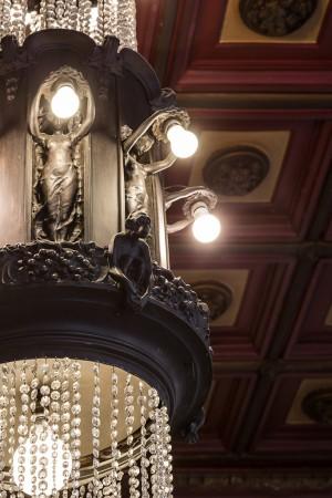 Tip to toe, estetica; ex Caffè Bogino, particolare del lampadario, 2017 © Archivio Storico della Città di Torino