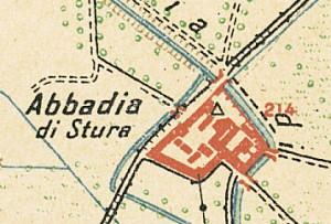 Abbadia di Stura. Istituto Geografico Militare, Pianta di Torino e dintorni, 1911, © Archivio Storico della Città di Torino