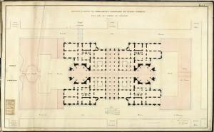 Proposta di edificio per il Parlamento Nazionale ed Uffici pubblici sull'area del giardino già Carignano, Crida, 22 novembre 1860. © Archivio Storico della Città di Torino.