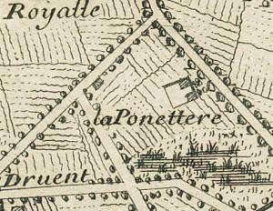 Cascina Panatera. Gaspard Baillieu, Plan de la Ville et Citadelle de Turin, 1705, © Archivio Storico della Città di Torino