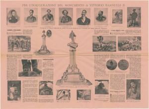 Inaugurazione del monumento a Vittorio Emauele II, realizzato da Pietro Costa tra il 1882-1899, dalla