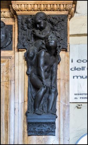 Baratti & Milano, rilievo di E. Rubino all'esterno, 2016 ©Archivio Storico della Città