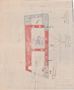 Bombardamenti aerei. Censimento edifici danneggiati o distrutti. ASCT Fondo danni di guerra inv. 1363 cart. 28 fasc. 9. © Archivio Storico della Città di Torino
