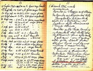 Diario dell'Istituto Lorenzo Prinotti, 1942. ASCT, Fondo Prinotti cart. 31 fasc. 11, 10, pp. 24-25. © Archivio Storico della Città di Torino