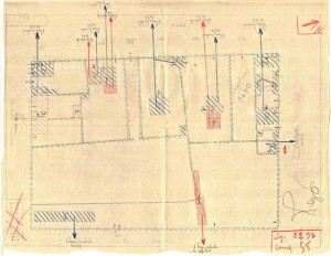 Bombardamenti aerei. Censimento edifici danneggiati o distrutti. ASCT Fondo danni di guerra inv. 2293 cart. 46 fasc. 9. © Archivio Storico della Città di Torino