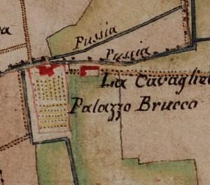 Cascina Cavaliera. Carta delle Regie Cacce, 1816. © Archivio di Stato di Torino