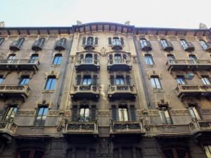 Edificio residenziale in via duchessa Jolanda 19, 21, particolare della facciata. Fotografia di Paola Boccalatte, 2014. © MuseoTorino