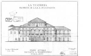 La Tesoriera, Disegno, Archivio Edilizio, 1935 (ASCT, 1935_1_53)