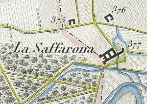 Cascina Saffarona. Topografia della Città e Territorio di Torino, 1840. © Archivio Storico della Città di Torino