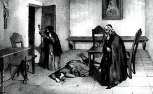 Una veduta interna del carcere delle Forzate: l'illustrazione è tratta dall'antigesuitico romanzo I misteri di Torino scritti da una penna in quattro mani, seconda edizione, Torino 1850 in Galli, Julini, Toppino