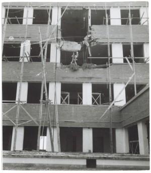Stabilimento Fiat Mirafiori. Effetti prodotti dai bombardamenti del 4-5 dicembre 1940. UPA 0964D_9A02-36. © Archivio Storico della Città di Torino