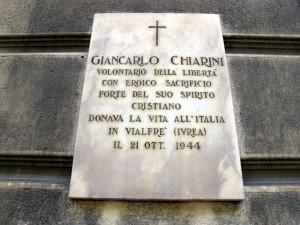 Lapide dedicata a Chiarini Giancarlo (1923 - 1944)