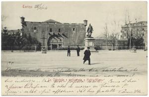 Mastio della Cittadella. Cartolina del 16 marzo 1904. © Archivio Storico della Città di Torino