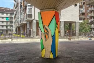 Studenti Liceo artistico Renato Cottini, pilastri del mercato coperto di via don Grioli, 2016