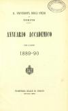 «Annuario accademico», A. XIV, a.a. 1889-1890, Torino, copertina
