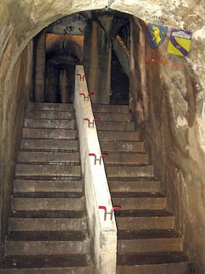 Rifugio antiaereo di piazza Risorgimento, scala di accesso. © Comune di Torino